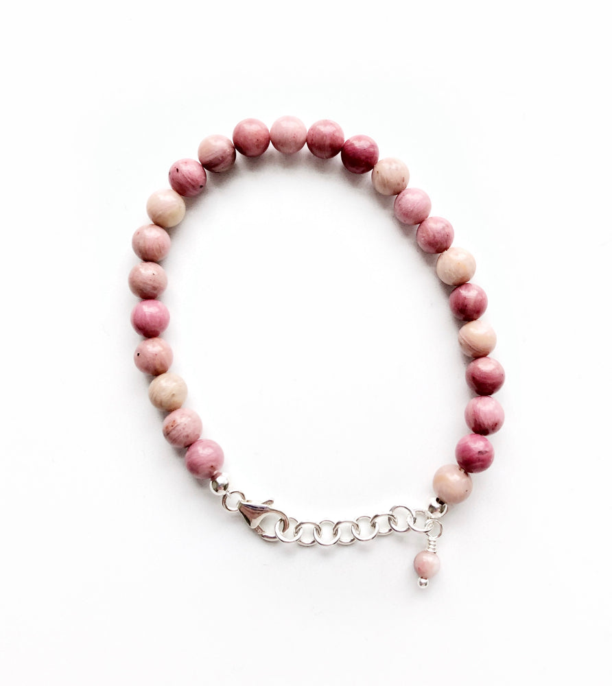 Rhodonite beaded bracelet