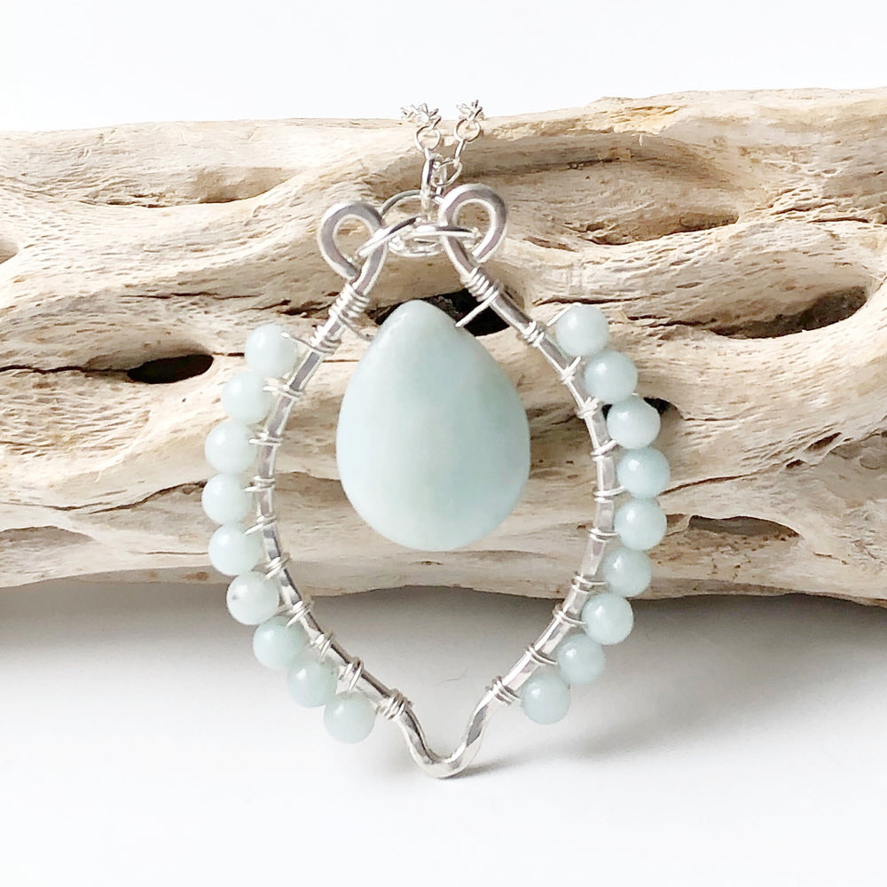 Sterling and Amazonite Necklace