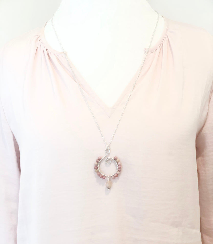 Pink Sands | Rhodonite and Sterling Silver Necklace