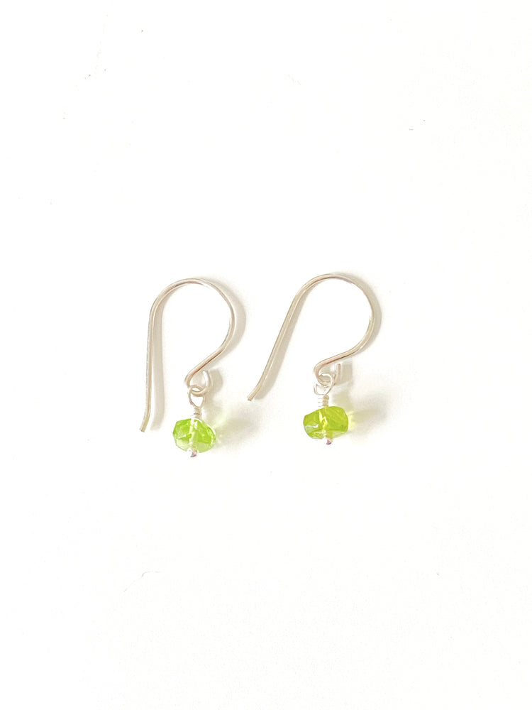 Sterling and Argentium everyday Peridot drop earrings