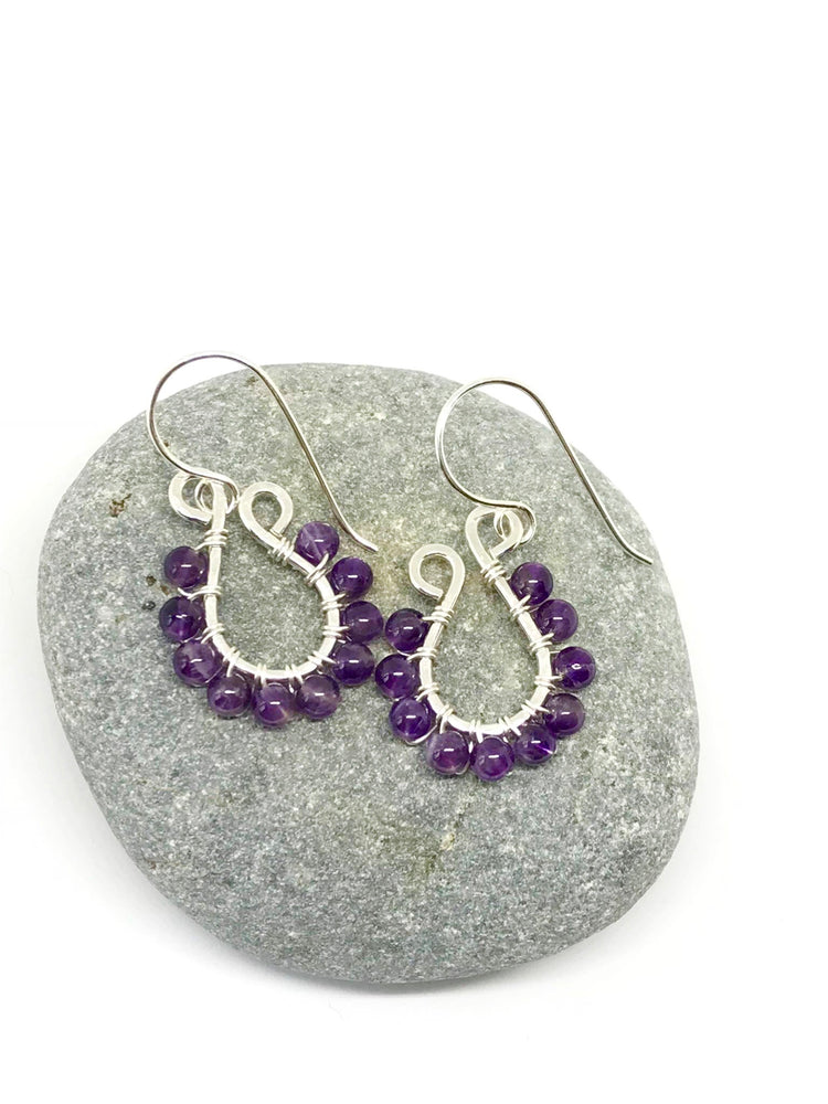 Purple Skies at Sunset | Amethyst and Sterling Silver Earrings