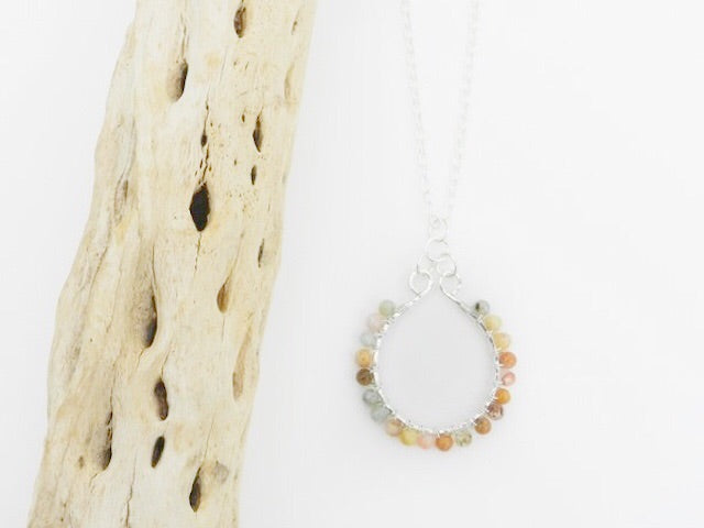 Sterling Silver and Jasper Necklace