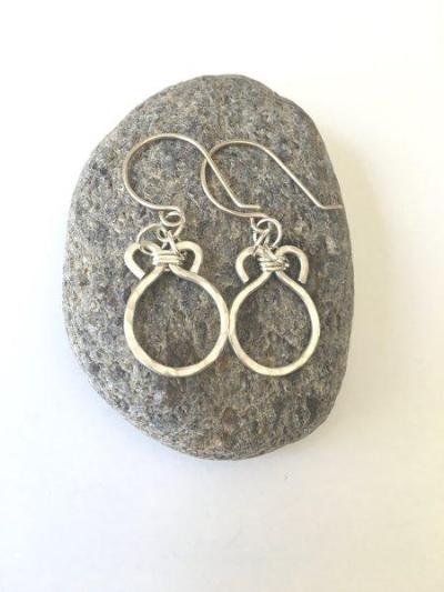 Silver Sand Dollar | Hand Forged Sterling Silver Earrings