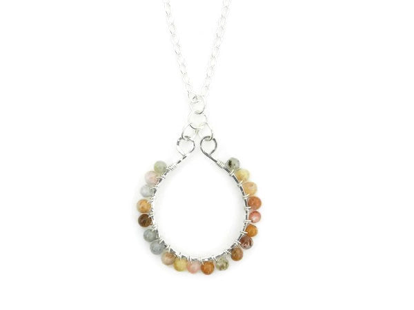 Walking on the Sandbar | Sterling Silver and Jasper Necklace