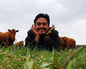Big welcome to our grass, grazing and herd hand Carlos!