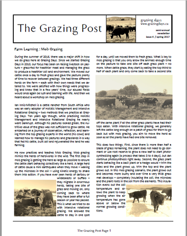 Grazing Post Issue 4 Cover