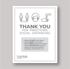 hairtalk® extensions salon social distancing PPE COVID-19