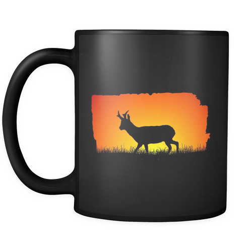 Pronghorn Buck Sunset Mug - the selfish conservationist