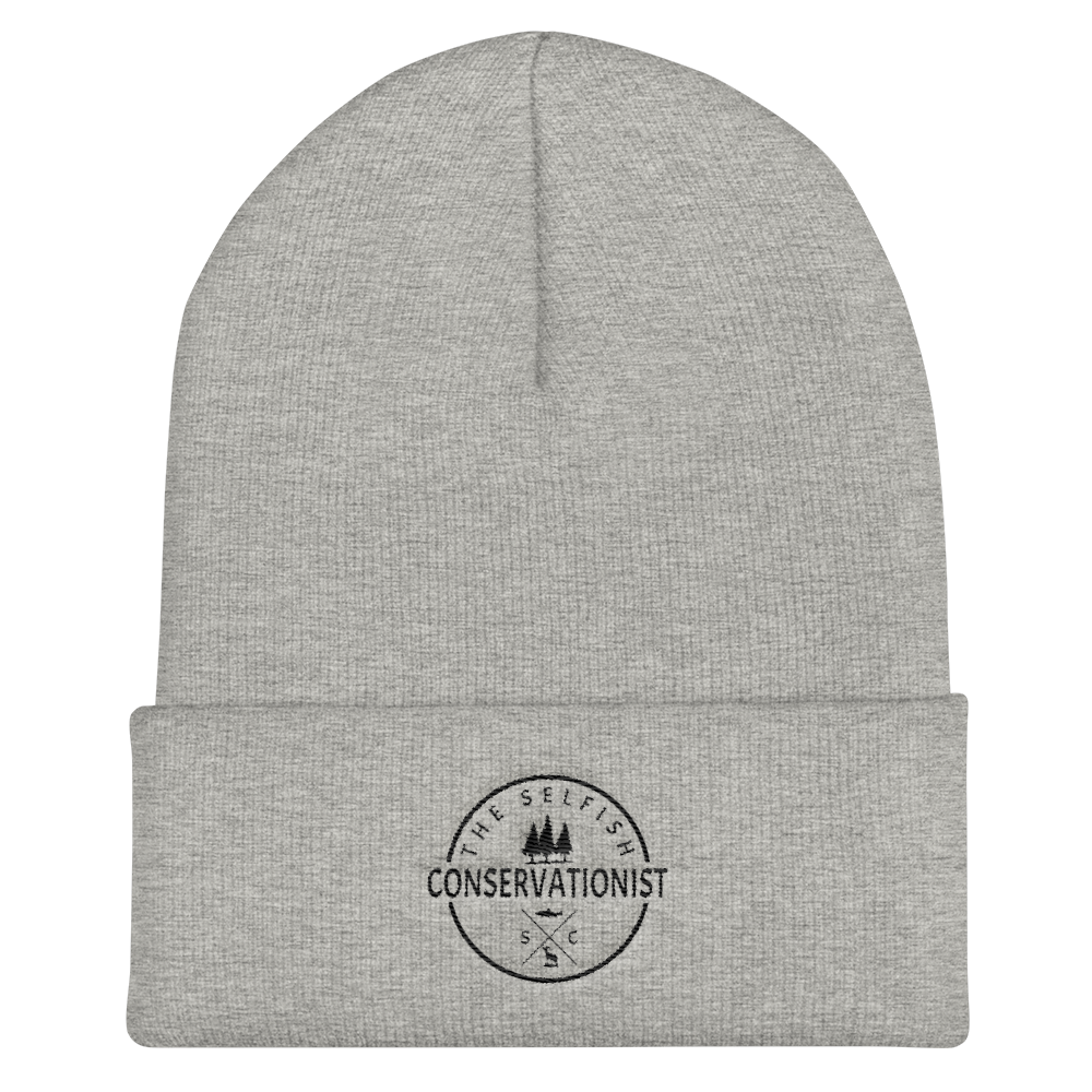 logo Cuffed Beanie - the selfish conservationist