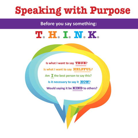 Speaking with Purpose (T.H.I.N.K.) Poster