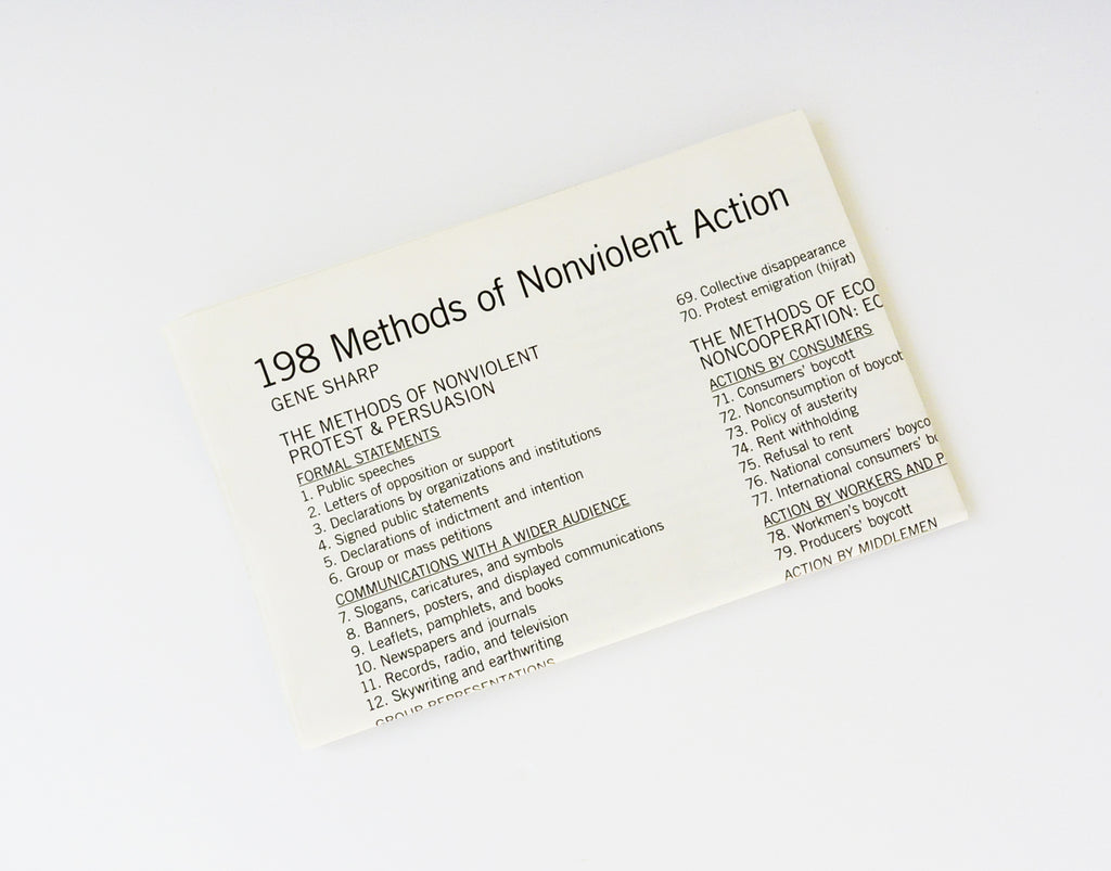 Gene Sharp: 198 Methods of Nonviolent Action