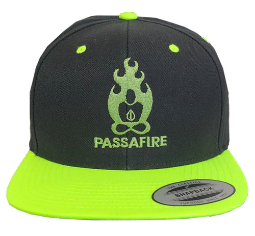Black and Neon Snap Back