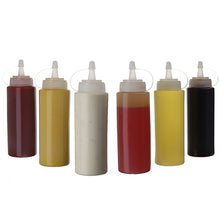 (6 pack) 8 oz. Condiment Bottles