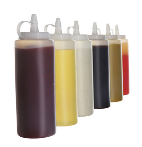 (6 pack) 16 oz. Condiment Bottles