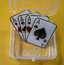 Lapel Pin 4 Aces