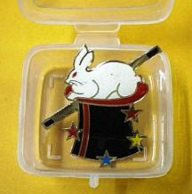 Lapel Pin Rabbit in Hat