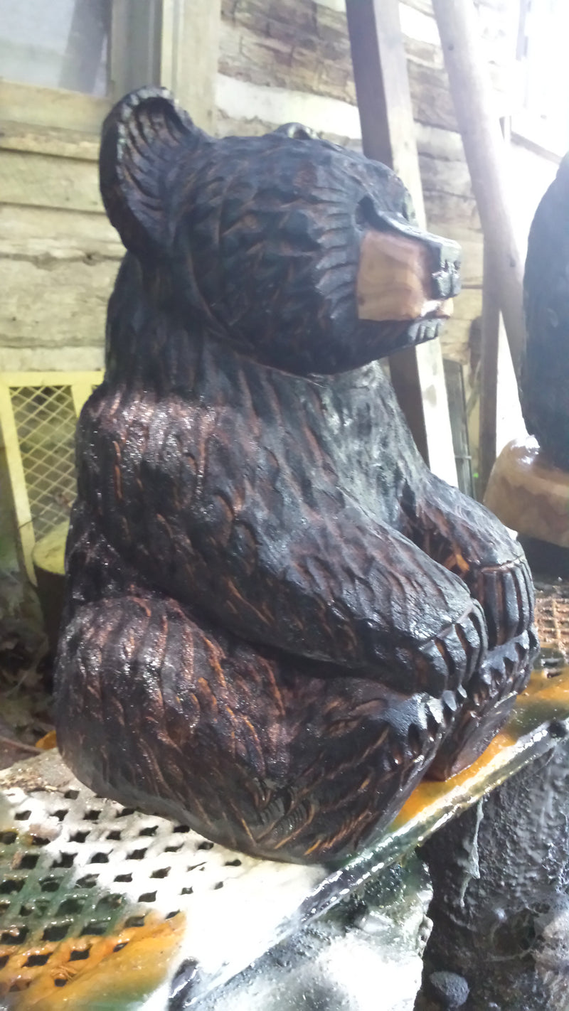 Chainsaw Sitting Bear Large