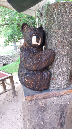 Chainsaw Carved Climbing Bear Small