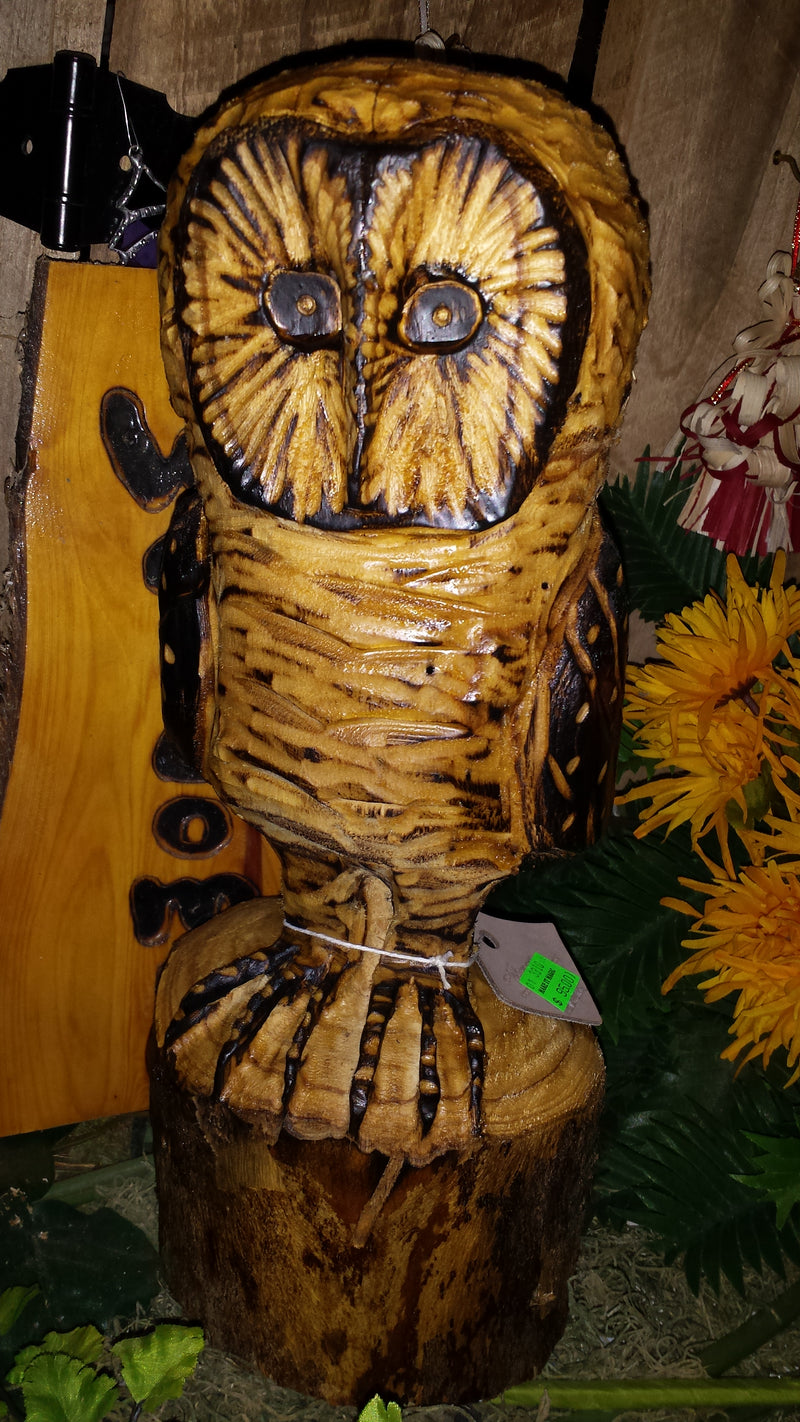 Chainsaw Carved Barn Owl Small