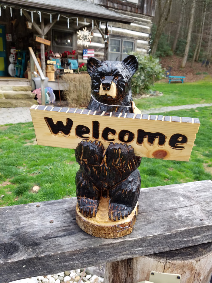 Bear Holding a sign