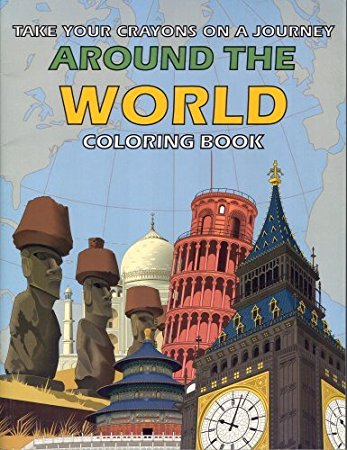 Around The World Coloring Book Easy to do mind reading!