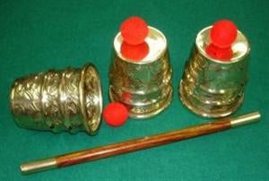 Cups And Balls - Embossed Brass - Large