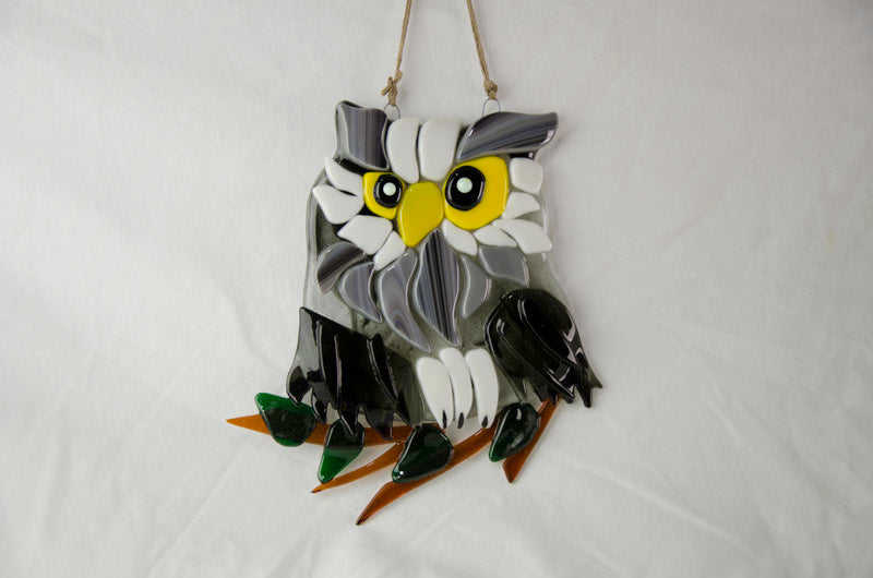 Fused Glass Festive Owl at Make It Magic