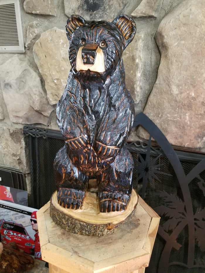 Chainsaw Carved Standing Bear