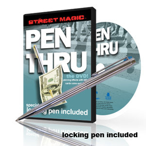 Pen thru Bill Street Magic DVD with Locking Pen