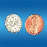FAMOUS PENNY AND DIME