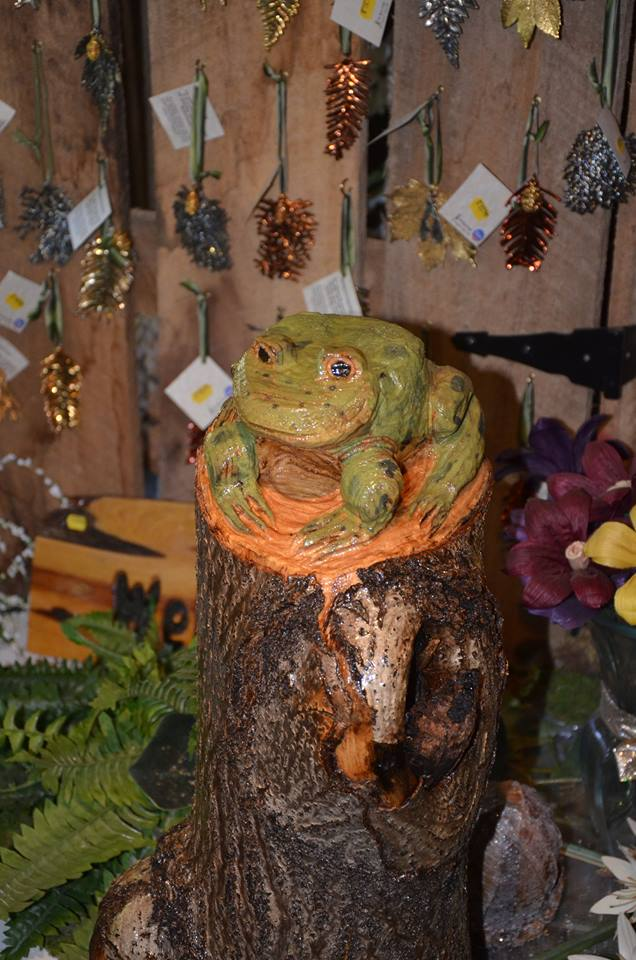 Chainsaw Carved Frog