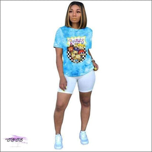 '90s Baby All Day' Casual T-Shirt blue 9232 / S