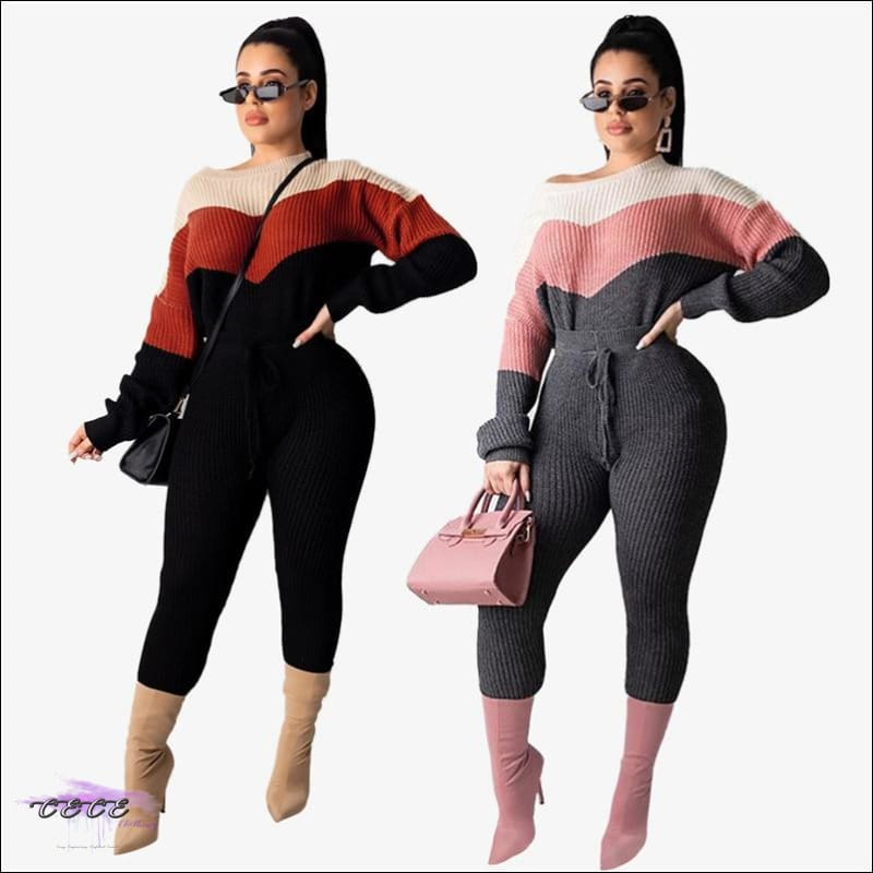 All Kinds Of Flavor Casual Sweater Two Piece Set