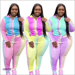 'As Thick As I Wanna Be' Rainbow Two Piece Tracksuit