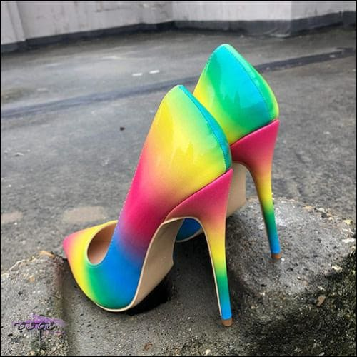 CECE Halo Rainbow Stiletto Sandals Rainbow 12cm Heels / 4
