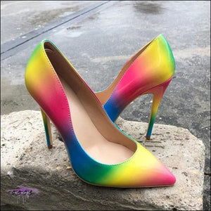 CECE Halo Rainbow Stiletto Sandals Rainbow 10cm Heels / 4