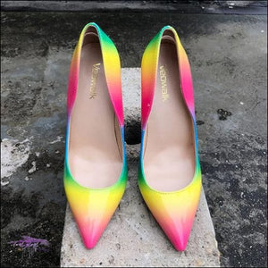 CECE Halo Rainbow Stiletto Sandals Rainbow 8cm Heels / 4
