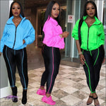 Curves Make These Colors Pop Fluorescent 2 Piece Tracksuit