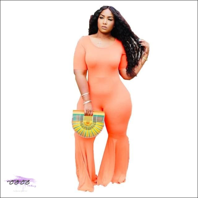 women jumpsuit orange / 1X / United States