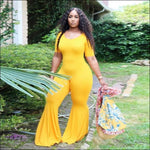 women jumpsuit yellow / S / United States