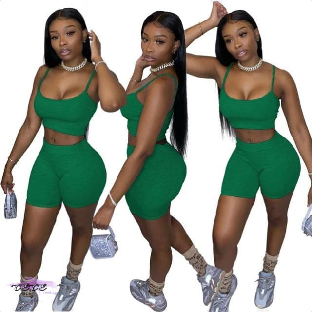 'Curvy & Fit' Two Piece Tracksuit green / M