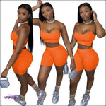 'Curvy & Fit' Two Piece Tracksuit orange / M