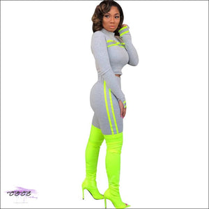 Curvy Stallion Highlight Stripe Two Piece Tracksuit