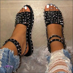 'Cute Toes & All' Diamond Spike Rivet Sandals