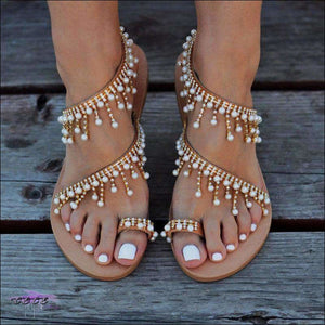 Egyptian Beauty String Bead Sandals