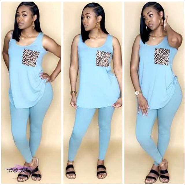 'Fine For Summertime' Lightweight Two Piece Tracksuit Set Blue / M