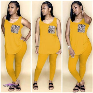 'Fine For Summertime' Lightweight Two Piece Tracksuit Set Yellow / M