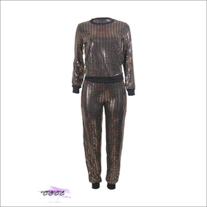 'Flashing My Beauty' Two Piece Sequins Tracksuit