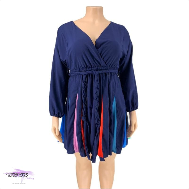 'Flaunting My Beauty' Tie Dye Pleated Mini Dress