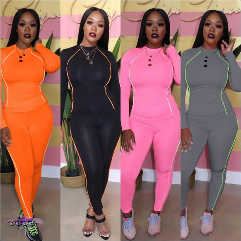 Glow Up These Curves Athleisure Two Piece Tracksuit